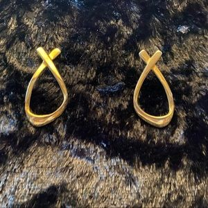 Gold looped earrings